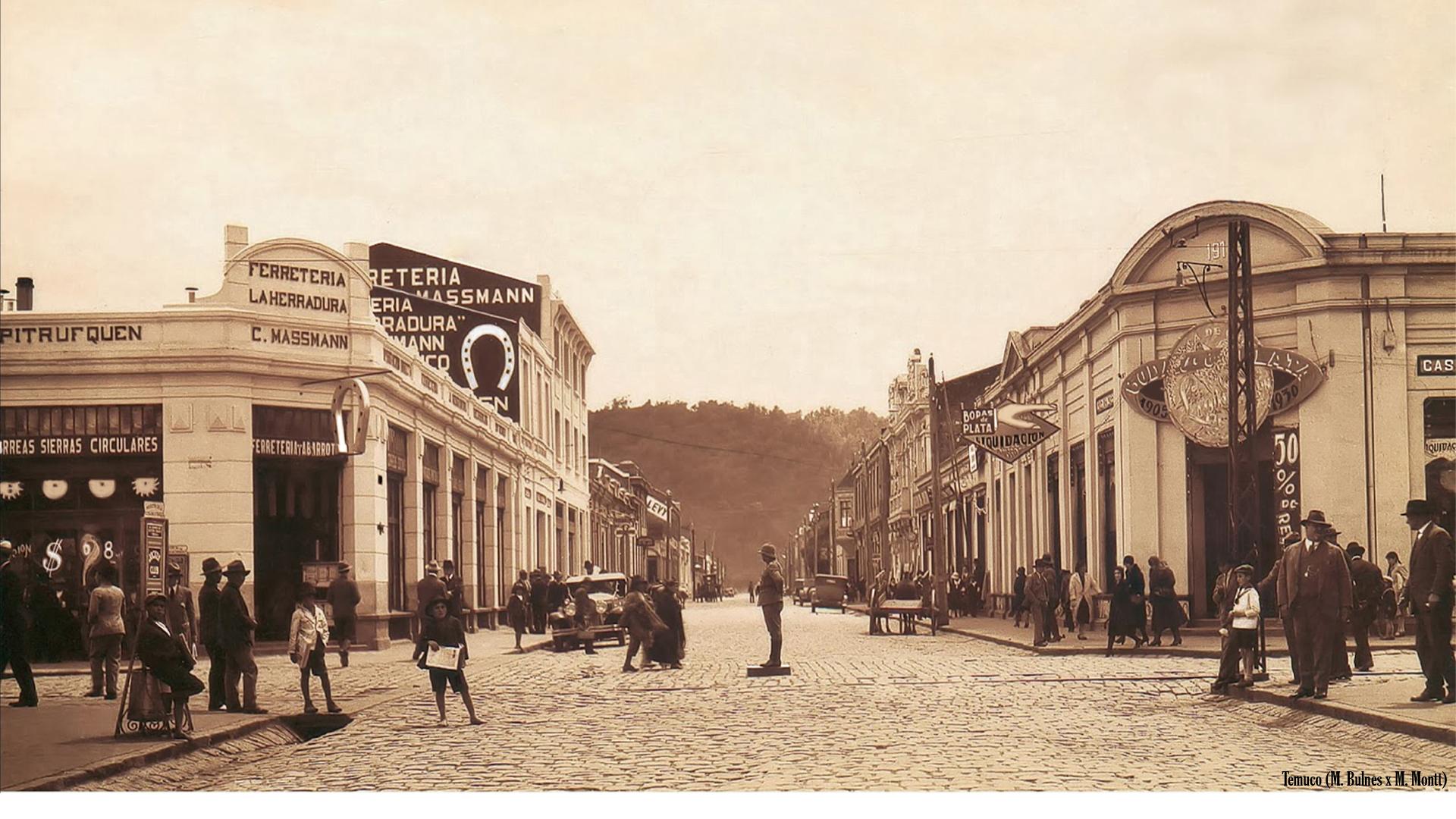 Enterreno - Fotos históricas de chile - fotos antiguas de Chile - Temuco, 1910