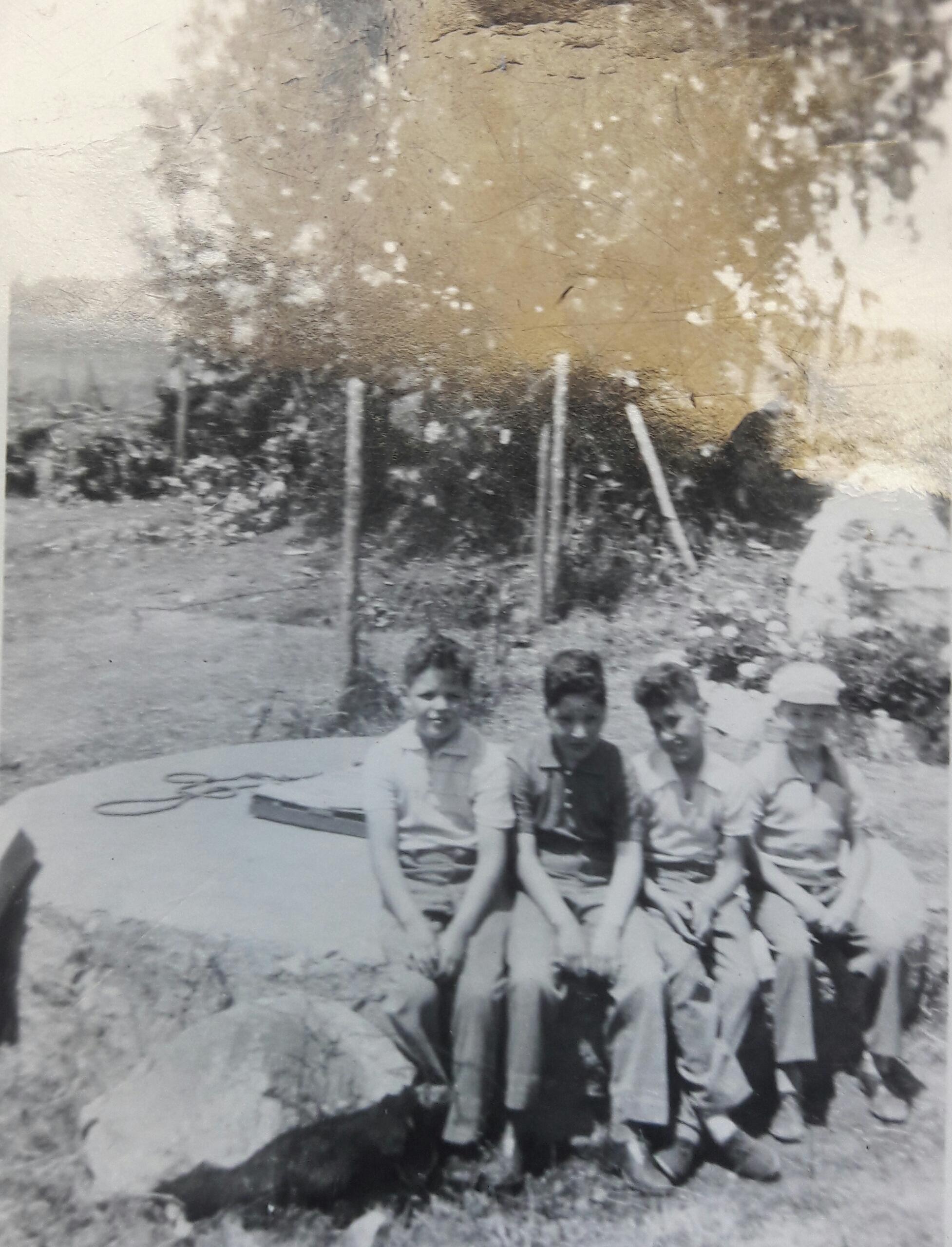 Enterreno - Fotos históricas de chile - fotos antiguas de Chile - Sector Apoquindo, 1950
