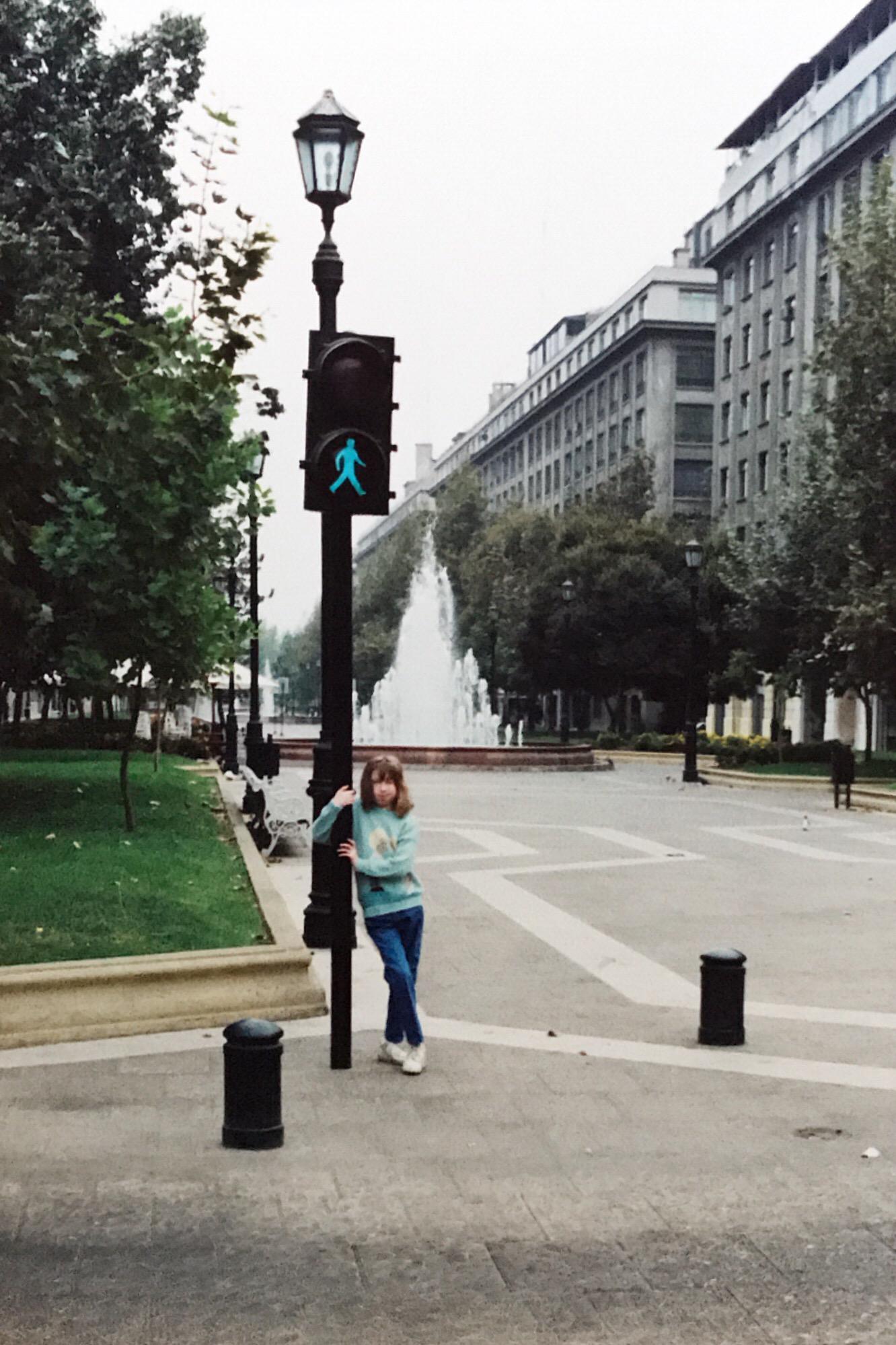Enterreno - Fotos históricas de chile - fotos antiguas de Chile - Paseo Bulnes a principios de los 90