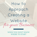 How to Approach Creating a Website for Your Business (even if you don't know where to start)