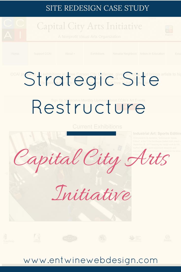 Strategic Site Redesign: Capital City Arts Initiative