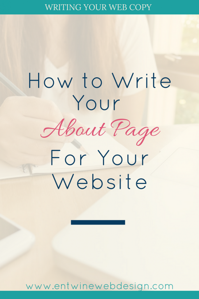 how to write an about page blog graphic