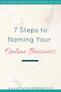 naming your online business blog graphic