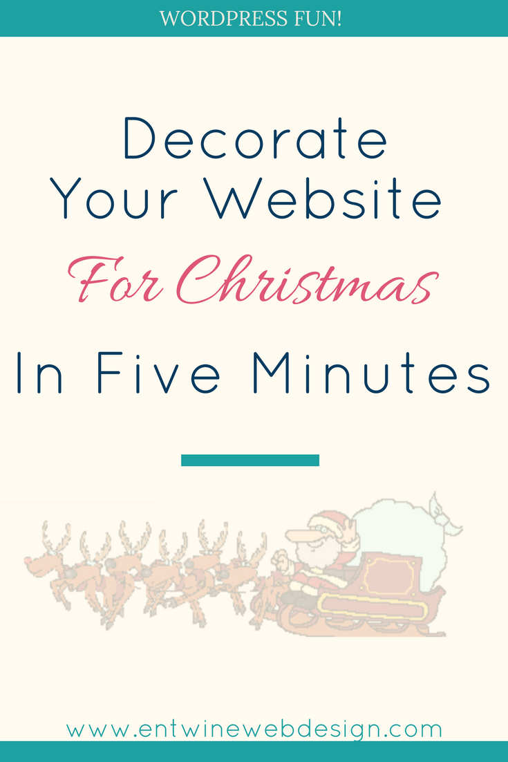Decorate your Website for Christmas in Five Minutes!