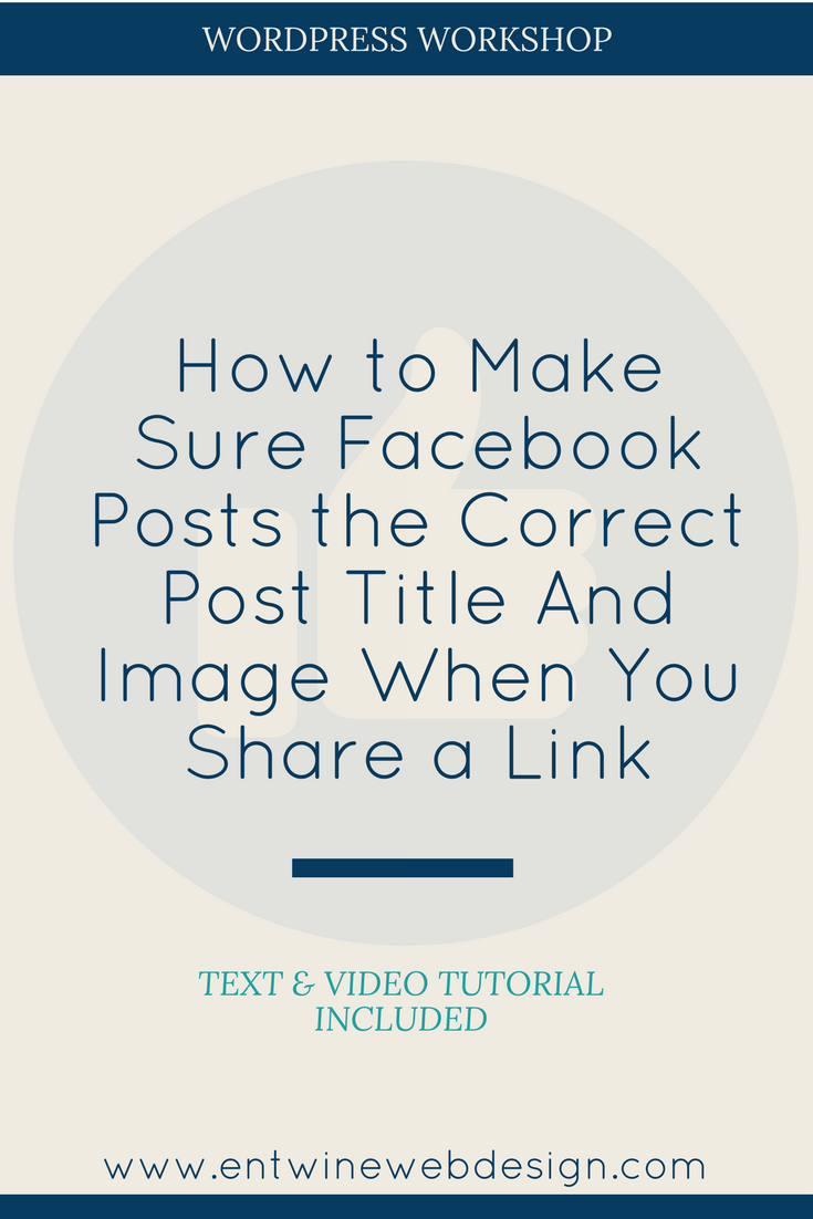 How to Control Your Facebook Post Image & Title When Sharing a Link