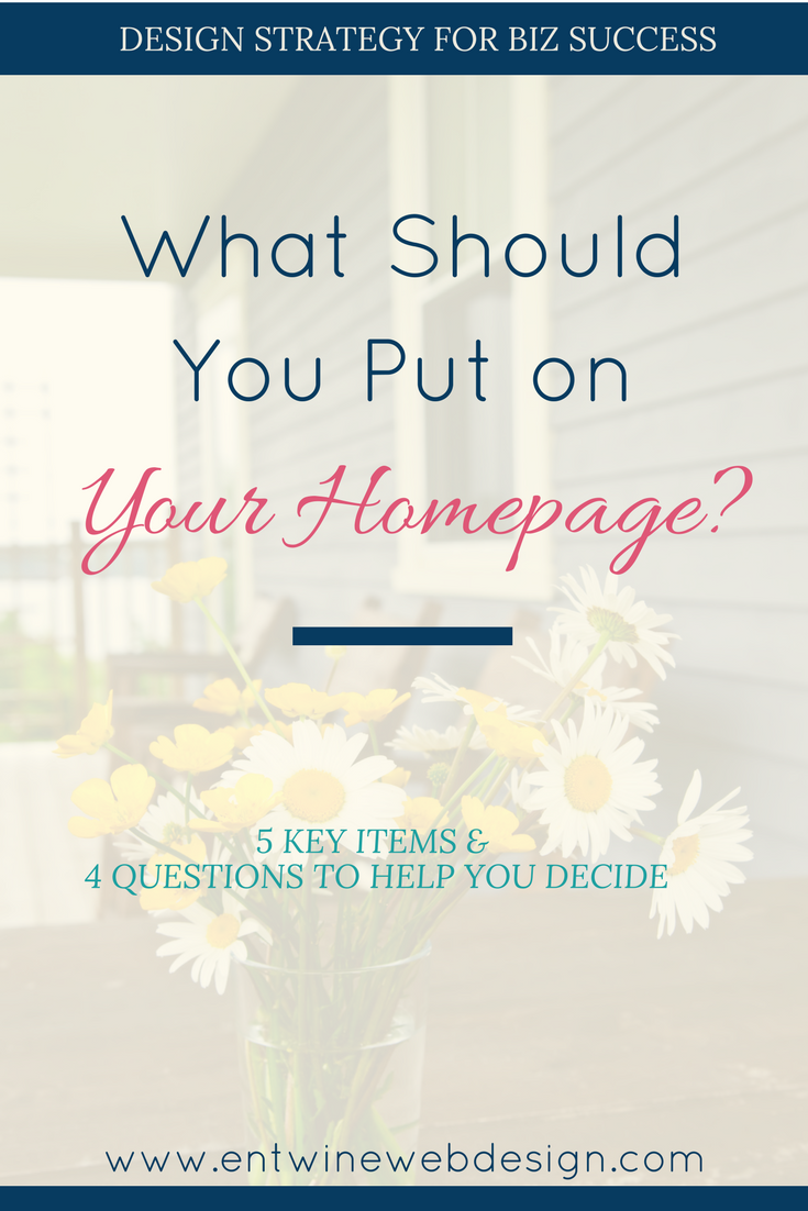 What Should You Put on Your Homepage?