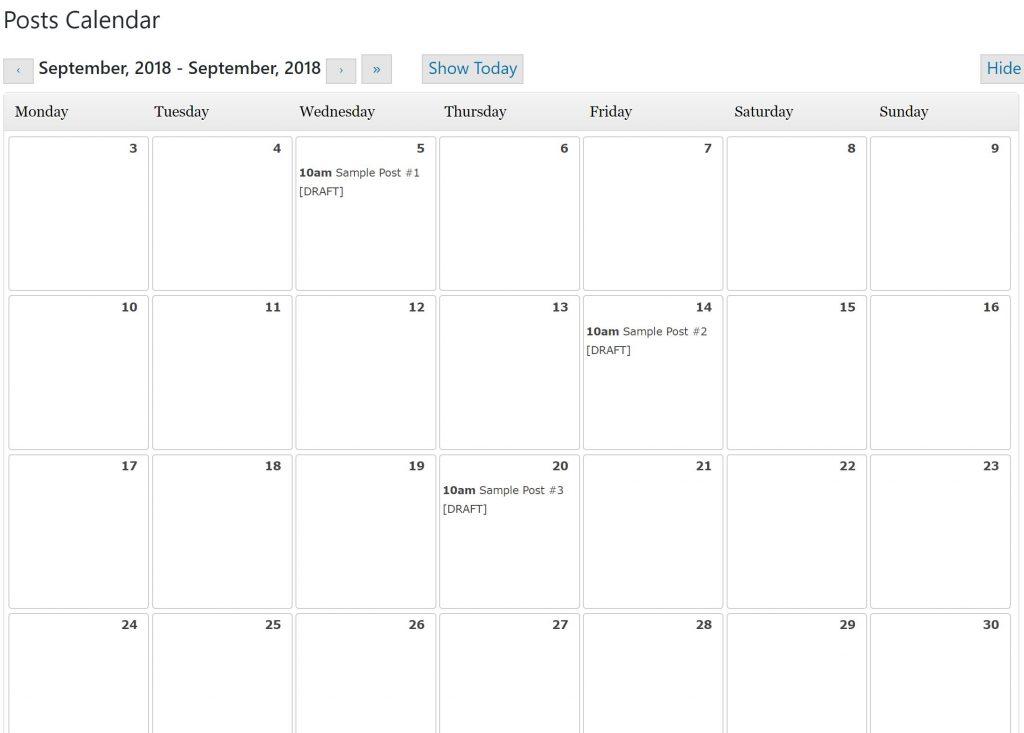 screen shot editorial calendar blogging consistently