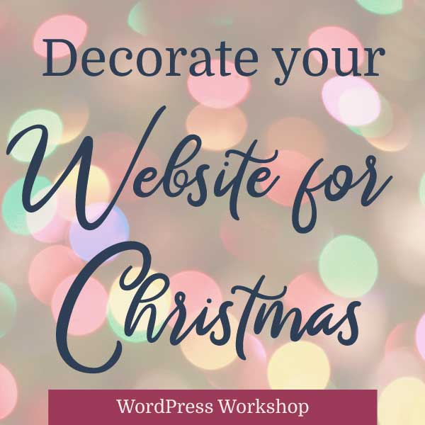 Decorate your Website for Christmas in Five Minutes ...