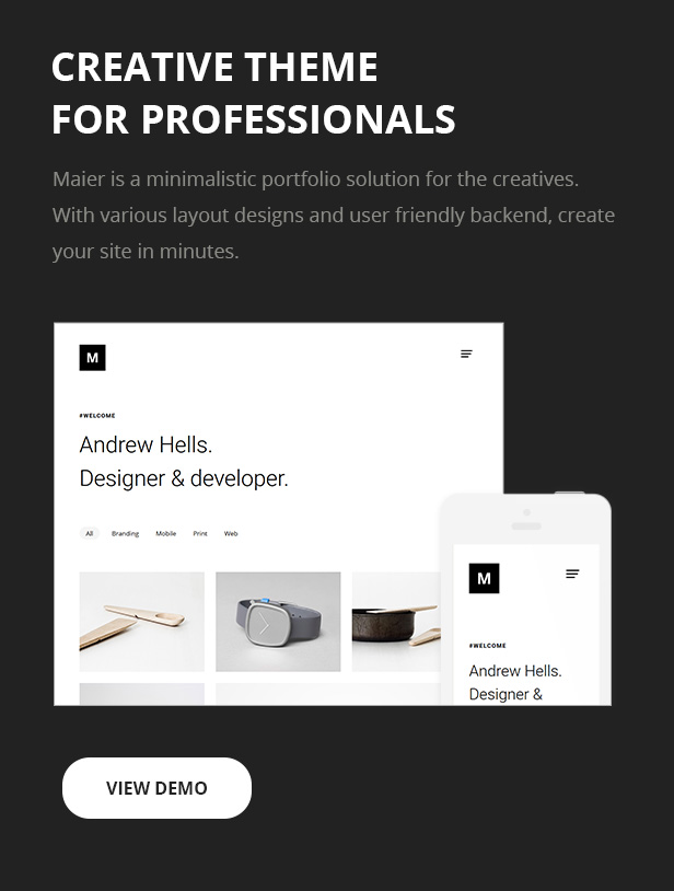 MAIER - Portfolio for Freelancers & Agencies