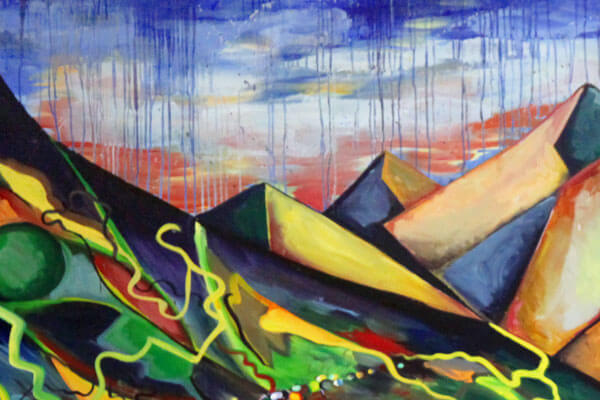 Mountain Landscape · 2003 · Oil paint on masonite