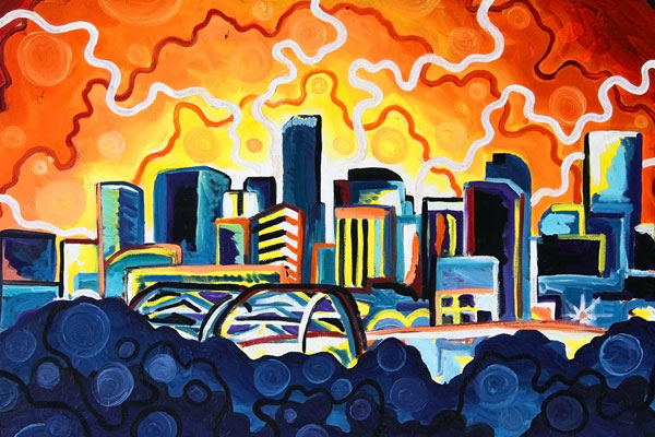 Denver Skyline · 2011 · Oil paint on canvas