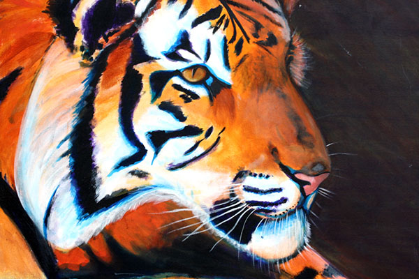 Tiger · 2000 · Acrylic paint on canvas