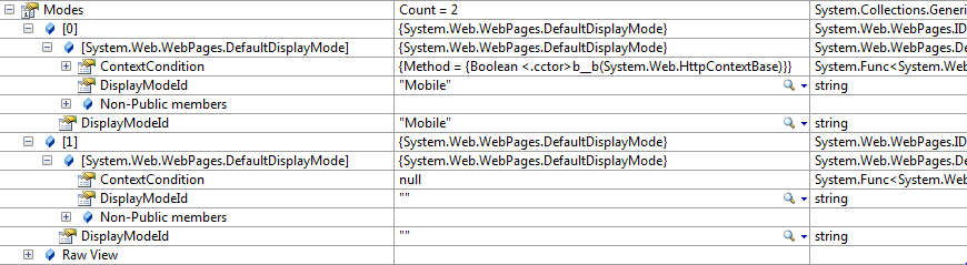 Default display modes in ASP.NET MVC 4 Preview