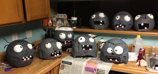 PvZ zombie heads