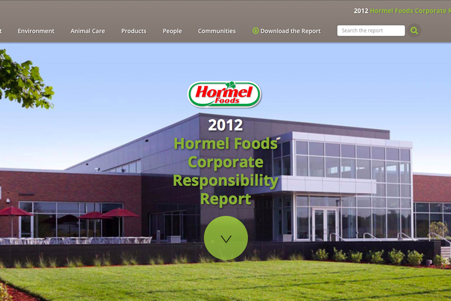 Hormel 2012 CR Report