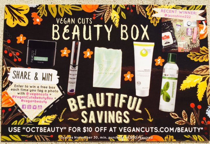 Review of The October Vegan Cuts. (Belated)