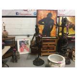 Original Robert Berry paintings, bronzes and Chinese furnishings