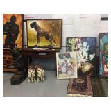 Original Robert Berry paintings and rugs