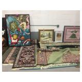 Rugs and paintings