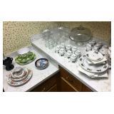Christmas dish sets and glassware
