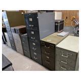 Asst Metal Filing Cabinets
