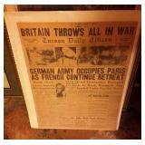 1940 Headline of WWII