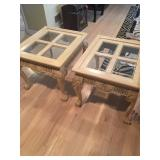Wooden Oak End Tables
