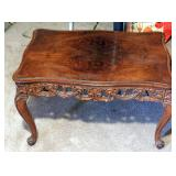 Antique Handcarved Fruitwood Table