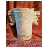 Large Antique Engraved Stone Water Jar