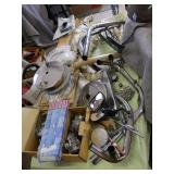 TRIUMPH MOTORCYCLE PARTS, SPROCKETS, HANDLEBARS, ETC.