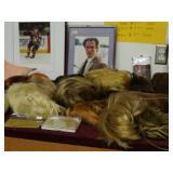 Autographed photos, costume wigs, prostethics