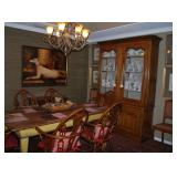 BAKER China, BAKER Cathedral Back Dining Chairs & Barn-wood Table