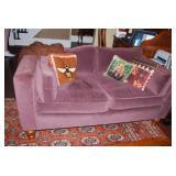 Custom Mohair Love Seat