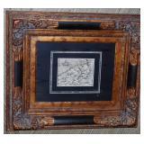 "ORIGINAL  WOOD BLOCK MAP of FLANDERS By Sebastian Munster 1578 18"" x 21"""