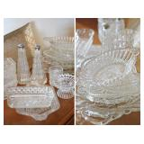 Lots of Assorted Cut & Molded Glassware