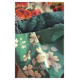 Vintage Wilender Dogwood Pattern Tablecloth, Assorted Vintage Tablecloths