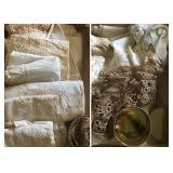 Assorted Antique Lace & Hand-Crocheted Linens
