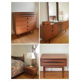 Mid-Century Modern 5-Pc West Michigan Furniture Company Bedroom Set (in style of Arne Vodder)