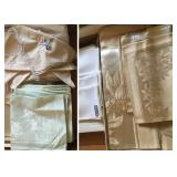 Assorted Vintage Damask & Embroidered Table Linens (some never used)