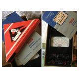 Vintage EICO Model 555 Volt / Meter w/ Manual, Drafting Tools in Original Box