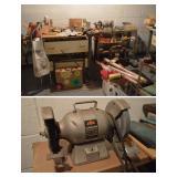 Large Assortment of Vintage Tools, Some in Original Boxes, Skil Bench Grinder