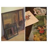 Framed Song of Love Print by M. Ditlef, Antique Religious Lithographs, Norman Rockwell Prints