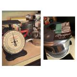 Vintage Everready Family 24 Lb Scale, Vintage West Bend Ovenette w/Manual (Never Used)