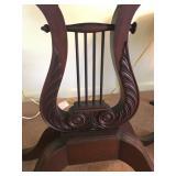 Antique Harp Table (base detail)