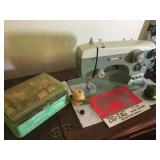Rare Antique Sewmor ZigZag Sewing Machine (model 965) and Table