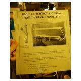 Knitelite lamp for electric knitting machines