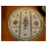 Antique decorative sectioned plate