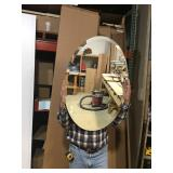 3 - bevel oval mirrors 21 x 31
