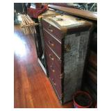 steamer trunk red
