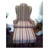 Wing-back chair & Ottoman